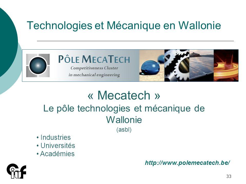 Technologies et Mécanique en Wallonie