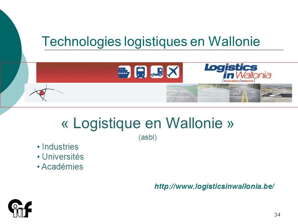 Technologies logistiques en Wallonie
