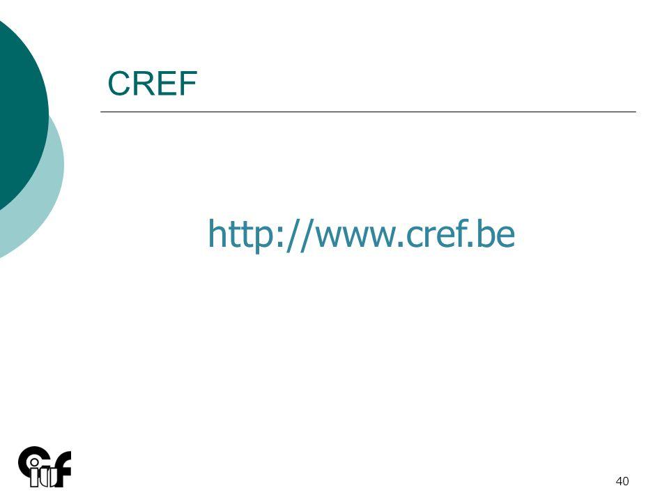 CREF http://www.cref.be