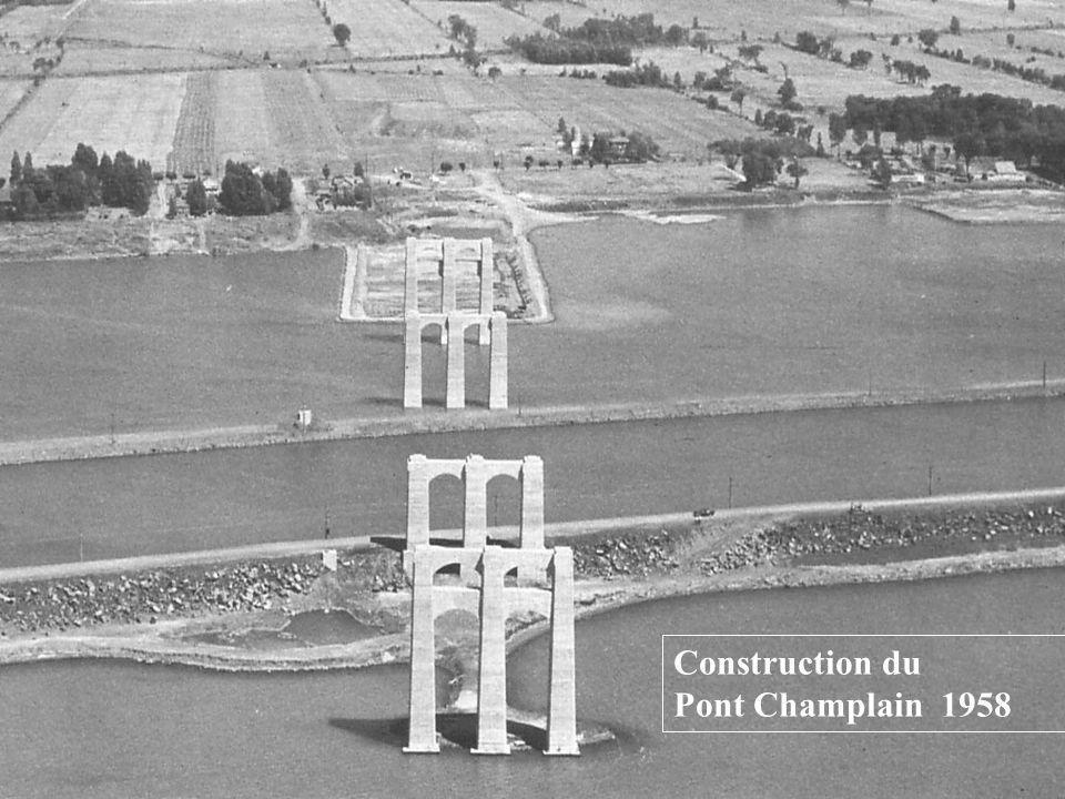 Construction du Pont Champlain 1958