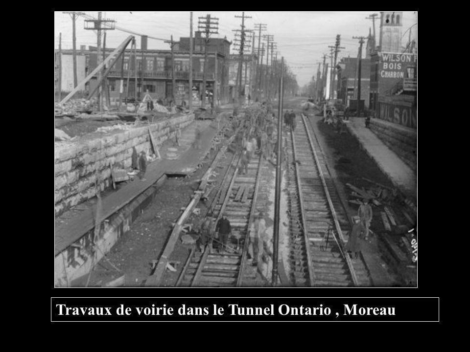 Travaux de voirie dans le Tunnel Ontario , Moreau