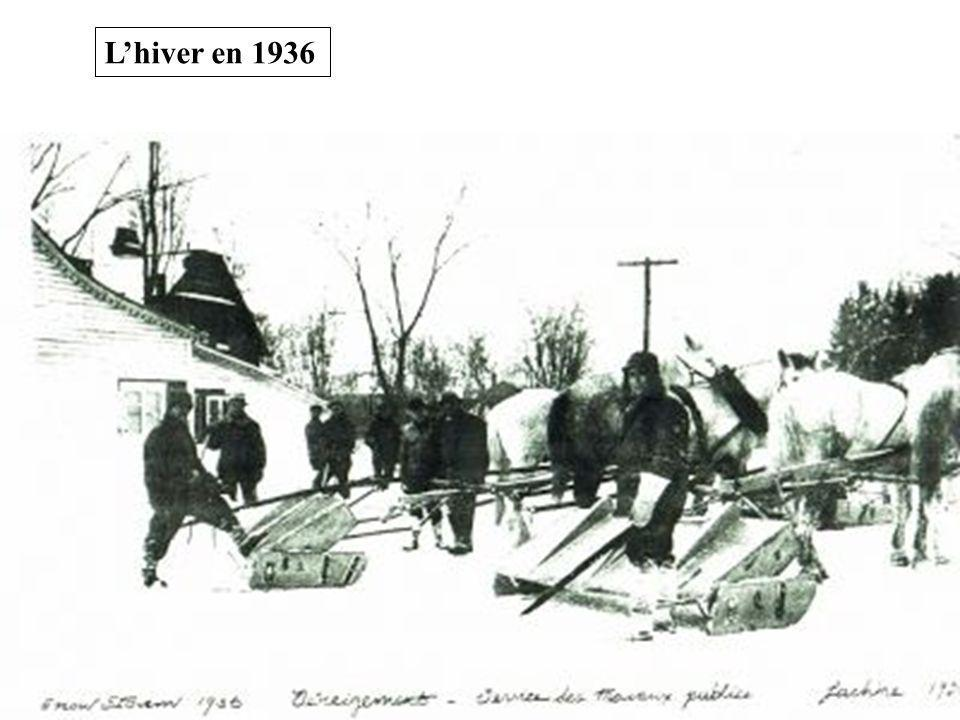 L'hiver en 1936