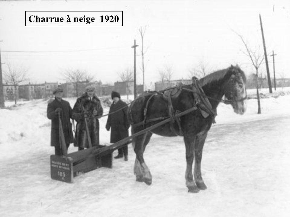 Charrue à neige 1920
