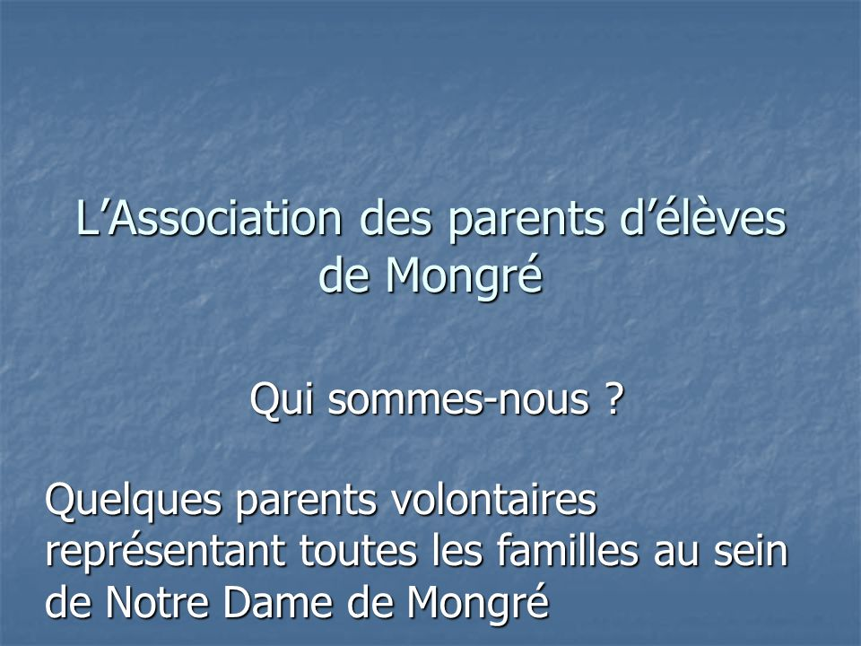L'Association des parents d'élèves de Mongré