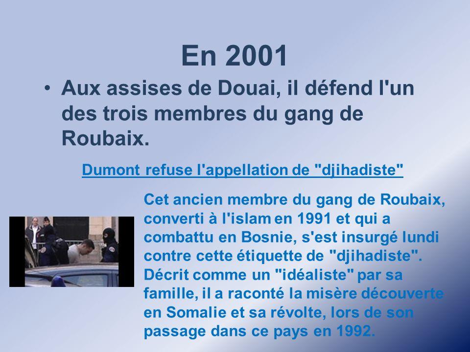 Dumont refuse l appellation de djihadiste