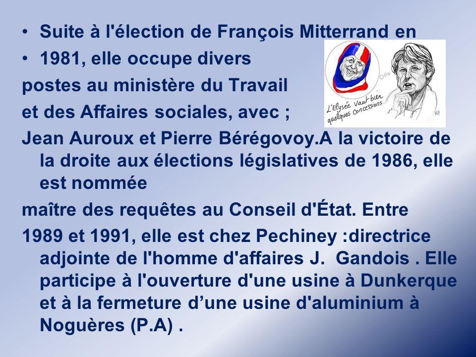 Suite à l élection de François Mitterrand en