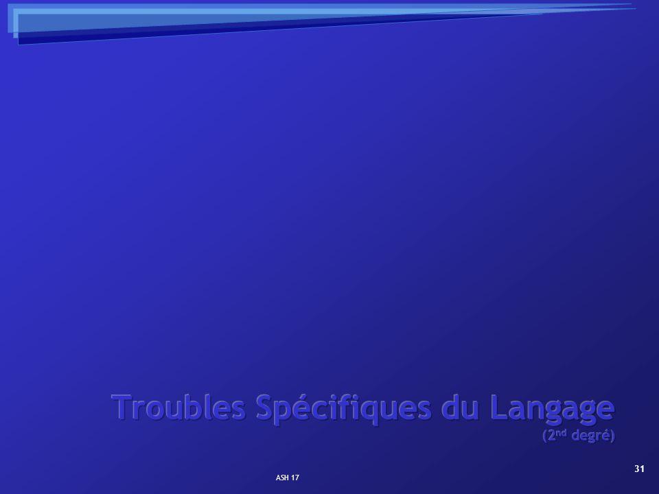 Troubles Spécifiques du Langage (2nd degré)