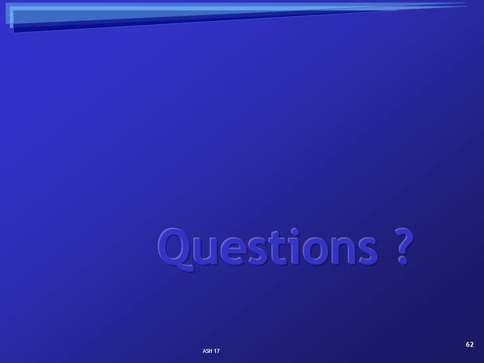 Questions ASH 17
