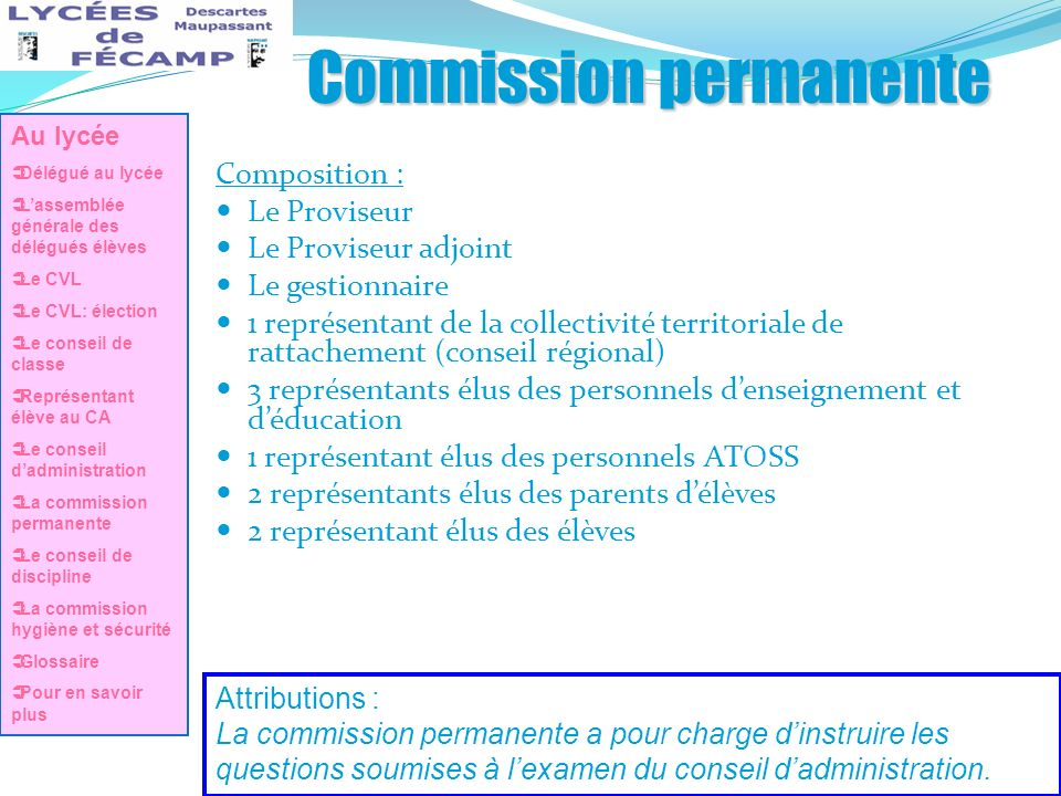 Commission permanente
