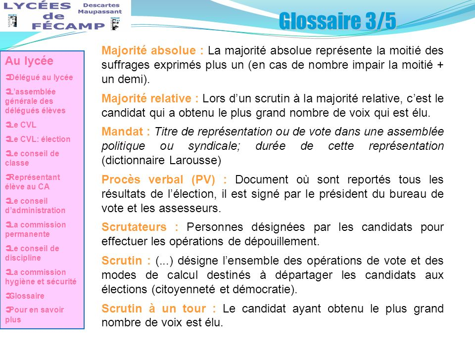 Glossaire 3/5