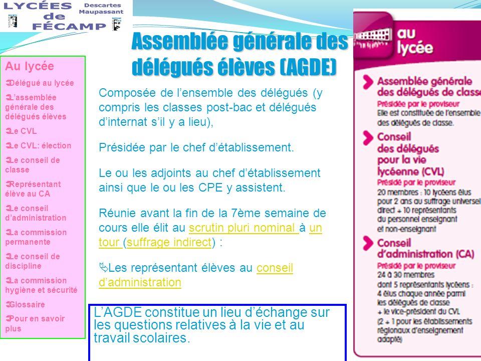 Assemblée générale des délégués élèves (AGDE)