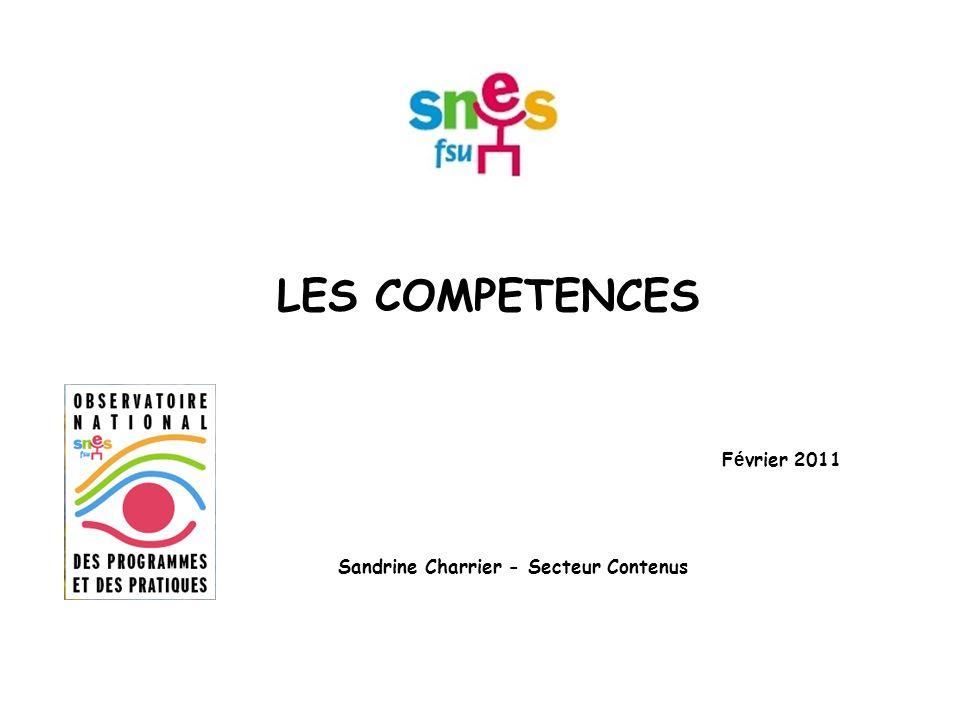 Février 2011 Sandrine Charrier - Secteur Contenus