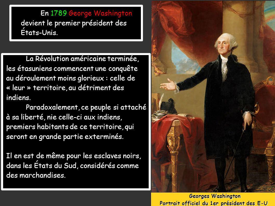 Portrait officiel du 1er président des E-U