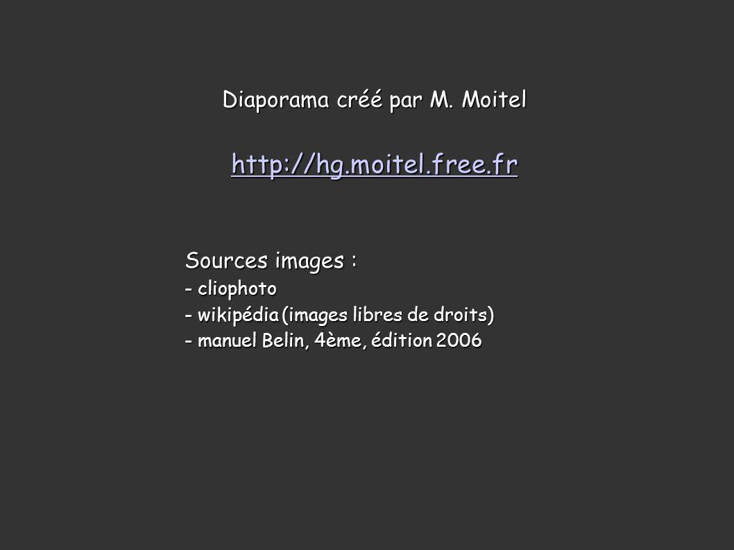 Diaporama créé par M. Moitel