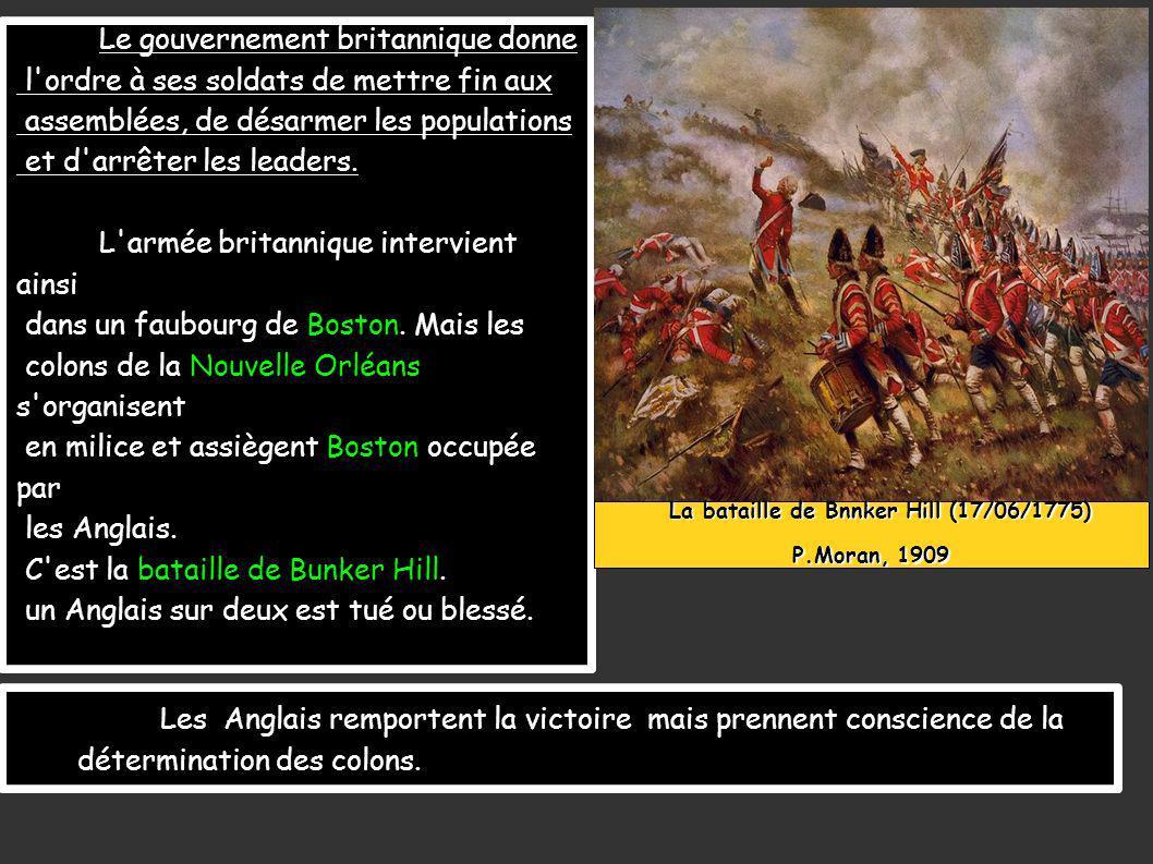 La bataille de Bnnker Hill (17/06/1775)