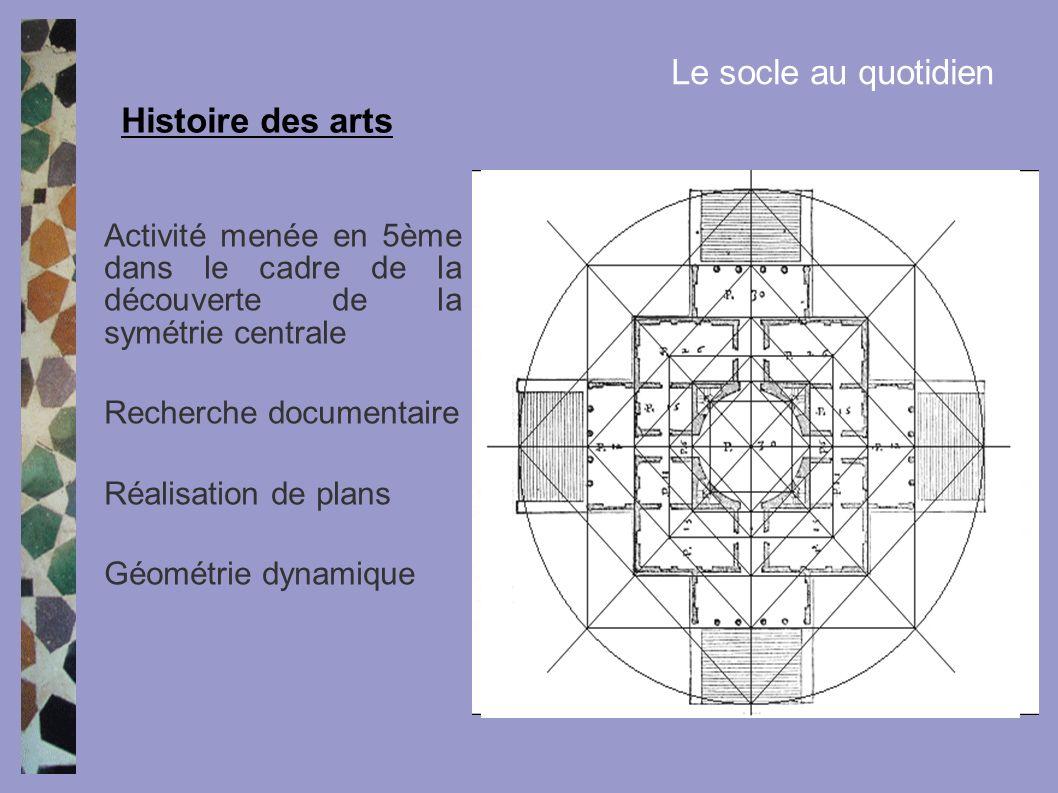 Le socle au quotidien Histoire des arts