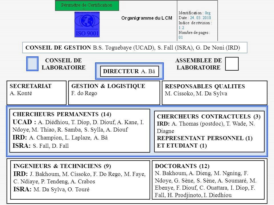 CONSEIL DE LABORATOIRE ASSEMBLEE DE LABORATOIRE