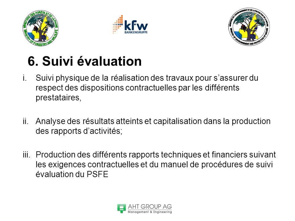 6. Suivi évaluation
