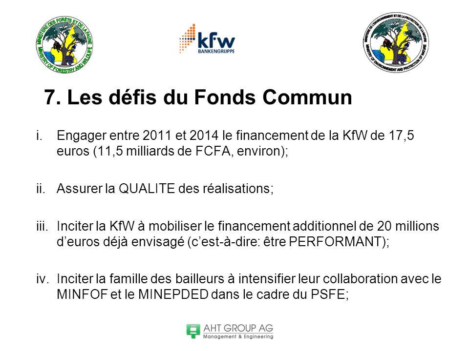 7. Les défis du Fonds Commun