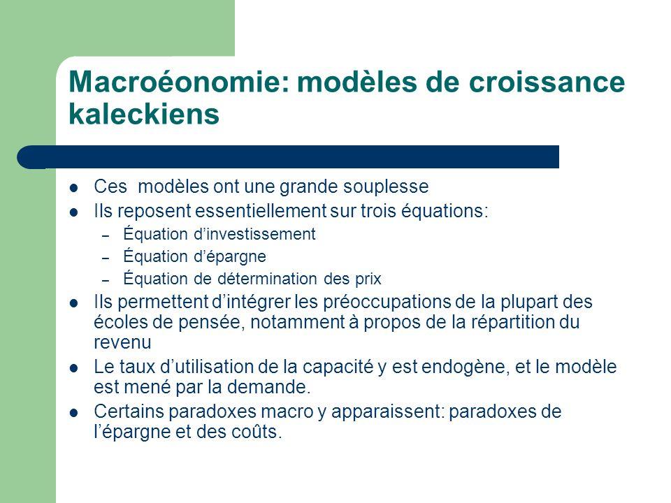 Macroéonomie: modèles de croissance kaleckiens