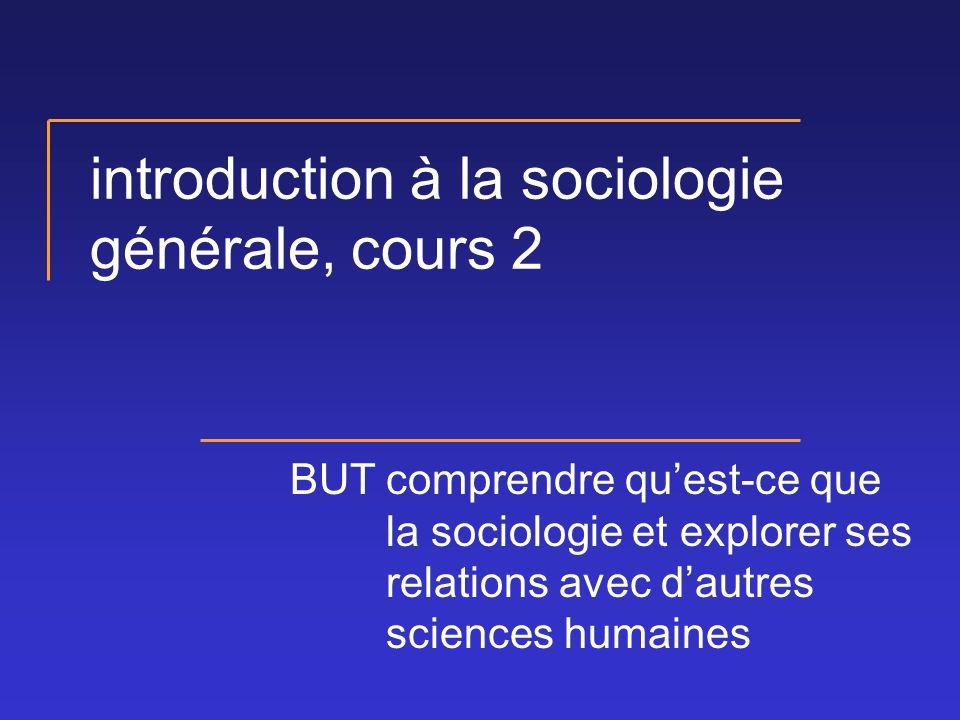 introduction à la sociologie générale, cours 2
