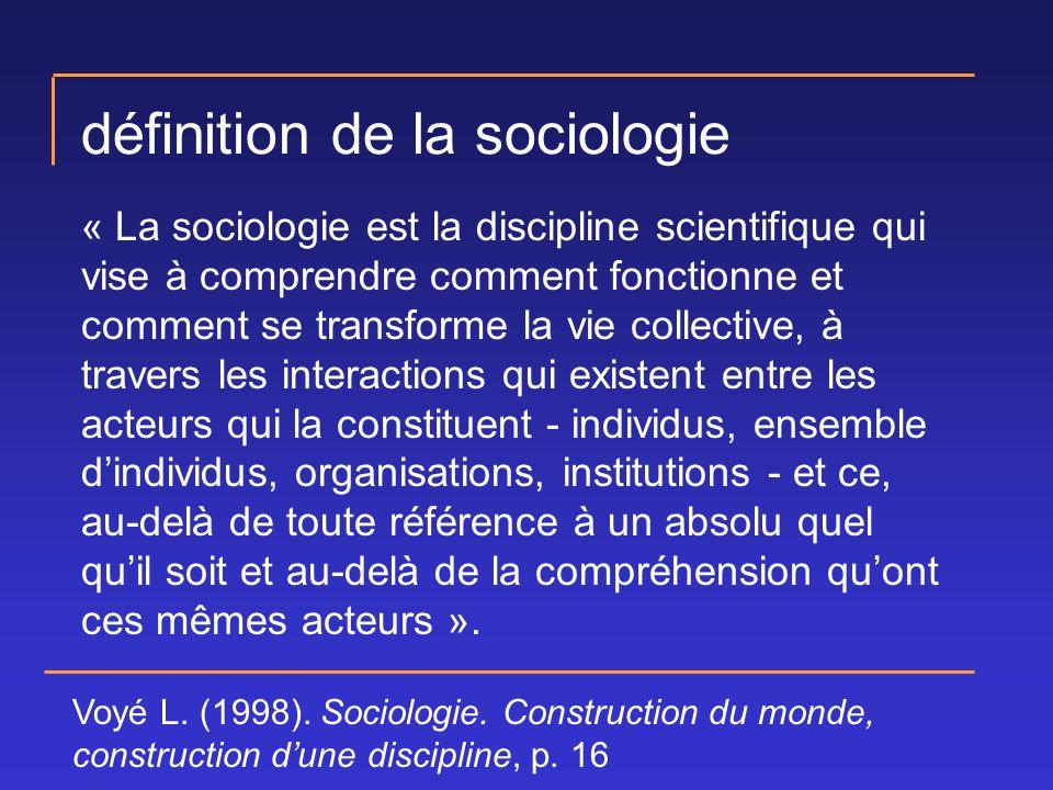 définition de la sociologie