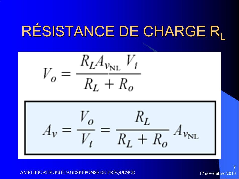 RÉSISTANCE DE CHARGE RL