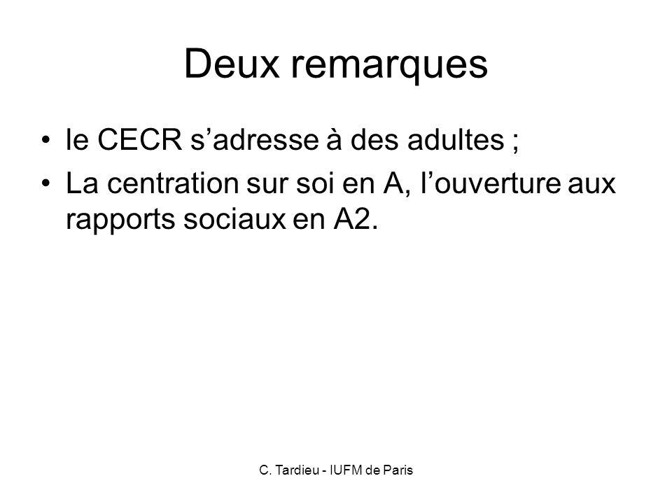 C. Tardieu - IUFM de Paris