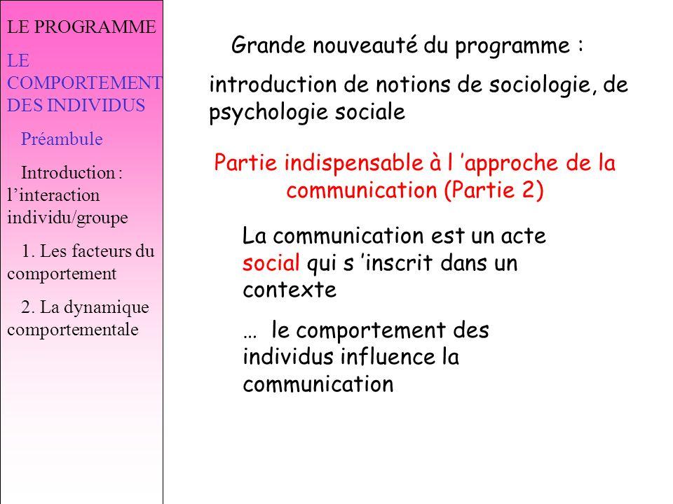 Partie indispensable à l 'approche de la communication (Partie 2)