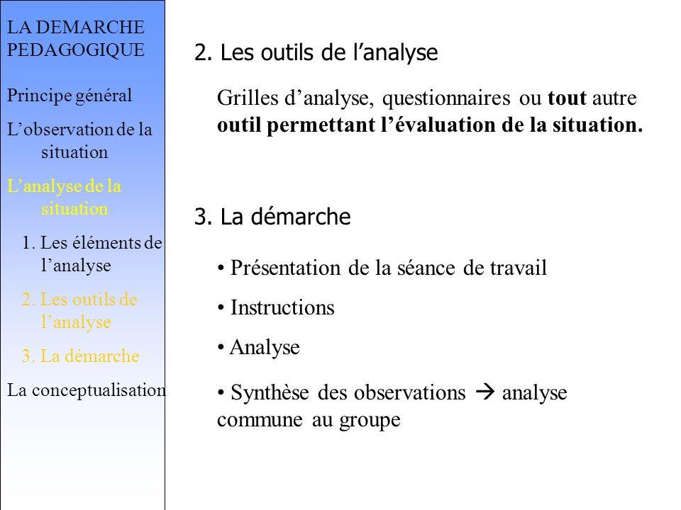 2. Les outils de l'analyse