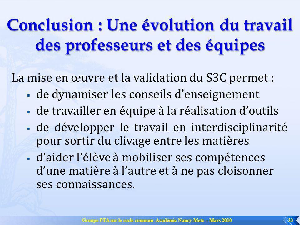 Conclusion : Une évolution du travail des professeurs et des équipes