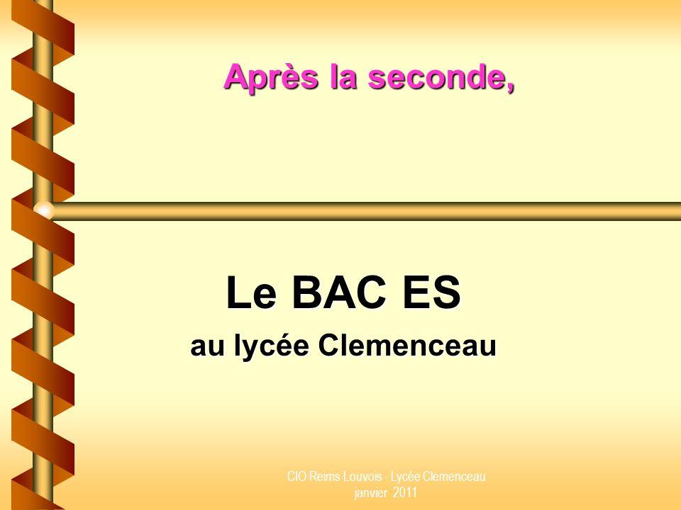 Le BAC ES au lycée Clemenceau