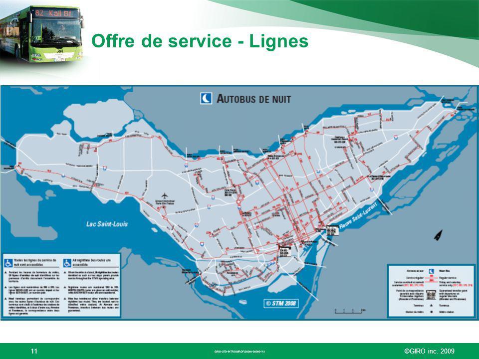 Offre de service - Lignes