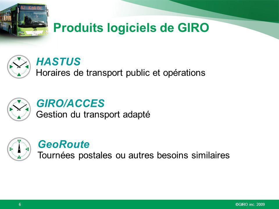 Produits logiciels de GIRO