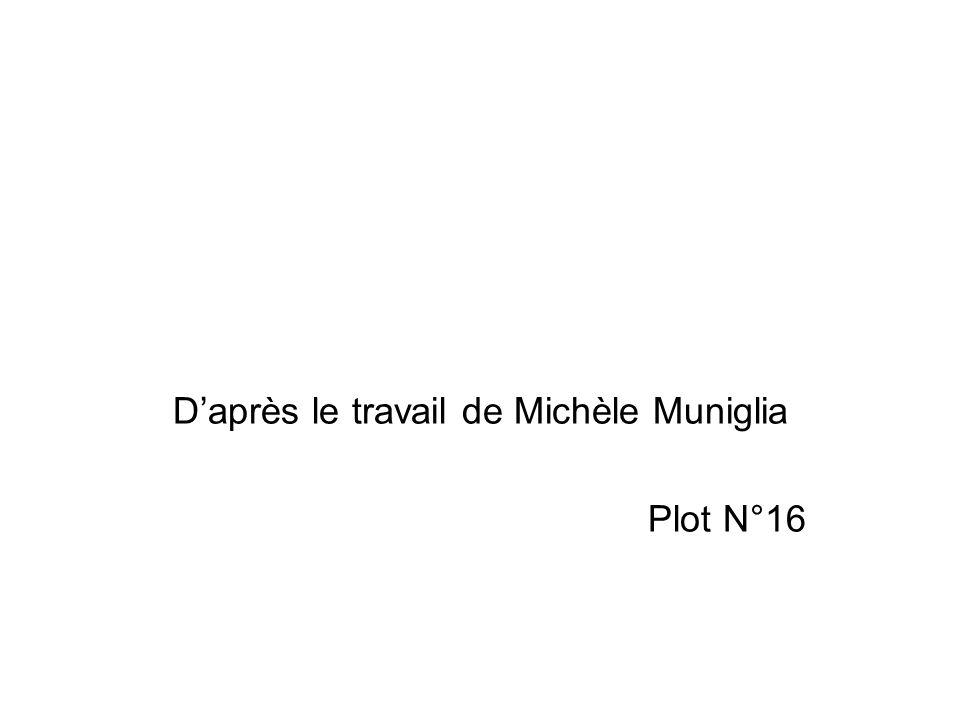 D'après le travail de Michèle Muniglia Plot N°16