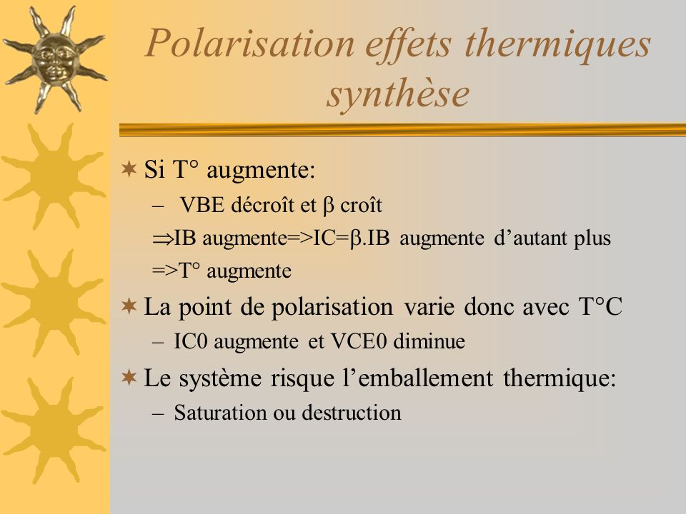 Polarisation effets thermiques synthèse