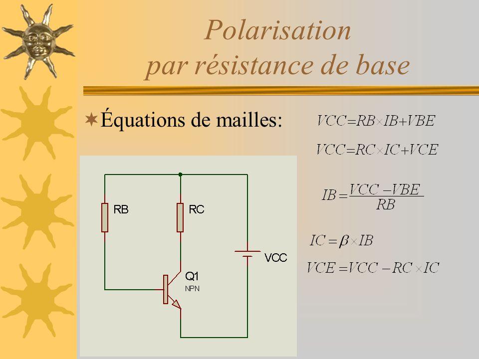 Polarisation par résistance de base