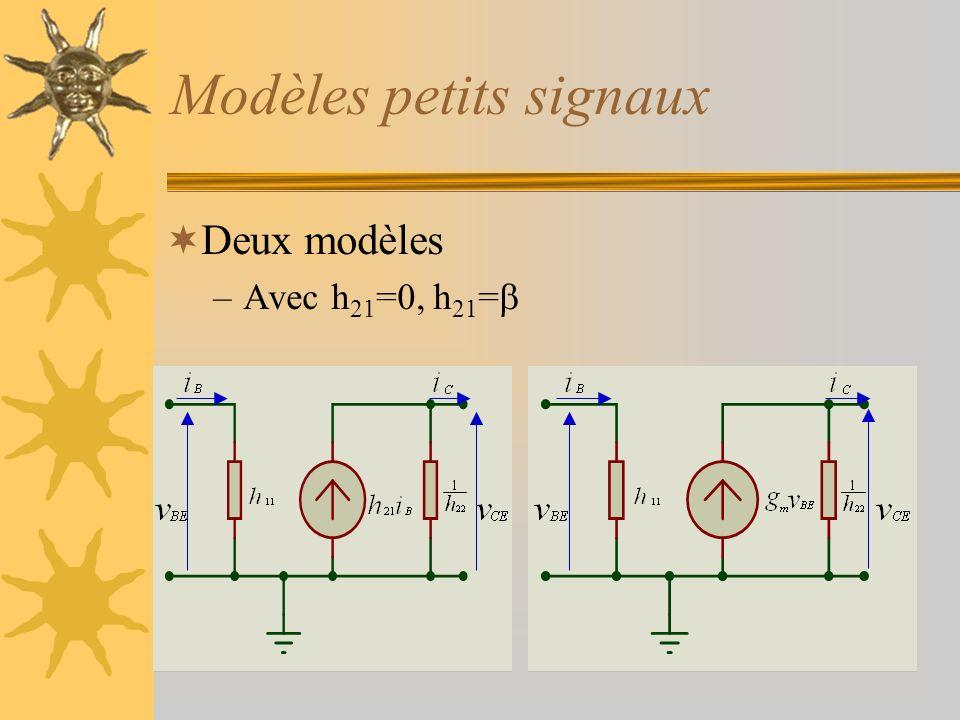 Modèles petits signaux
