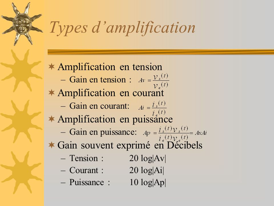 Types d'amplification