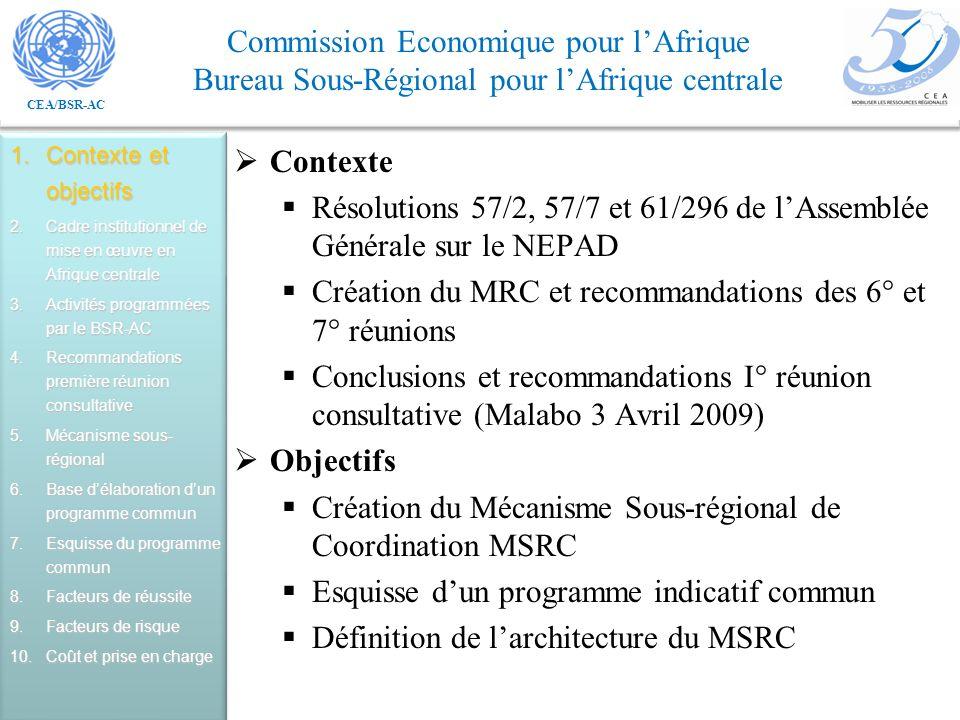 Résolutions 57/2, 57/7 et 61/296 de l'Assemblée Générale sur le NEPAD