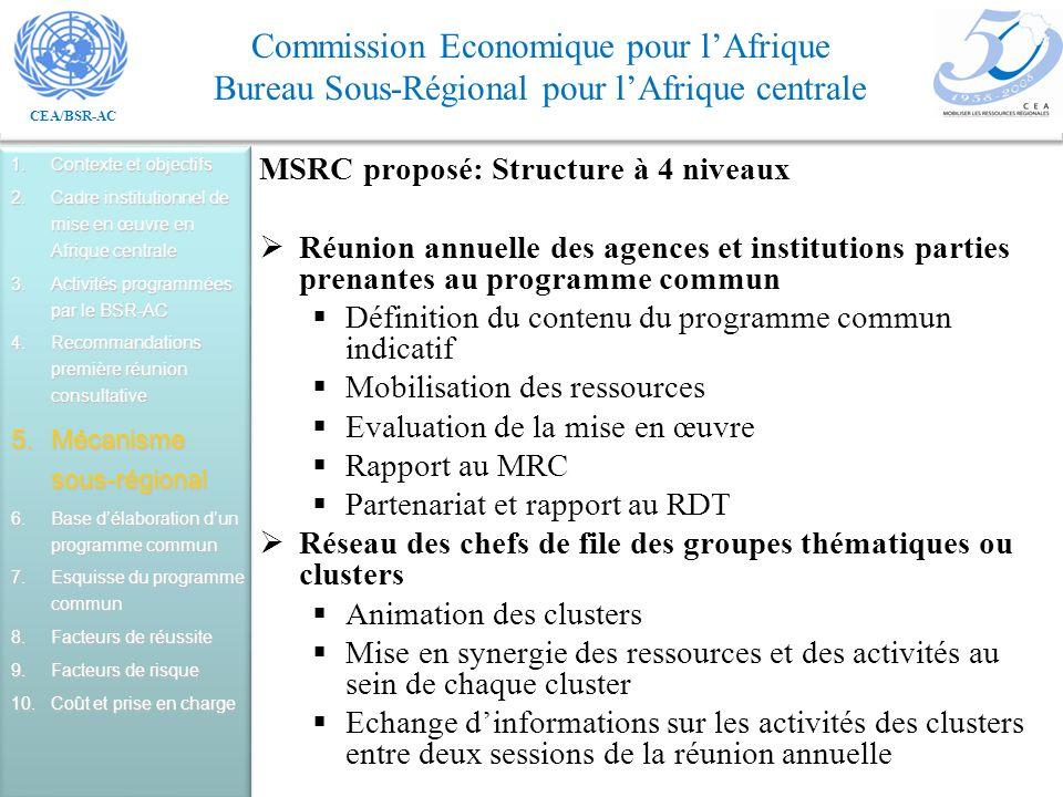 MSRC proposé: Structure à 4 niveaux