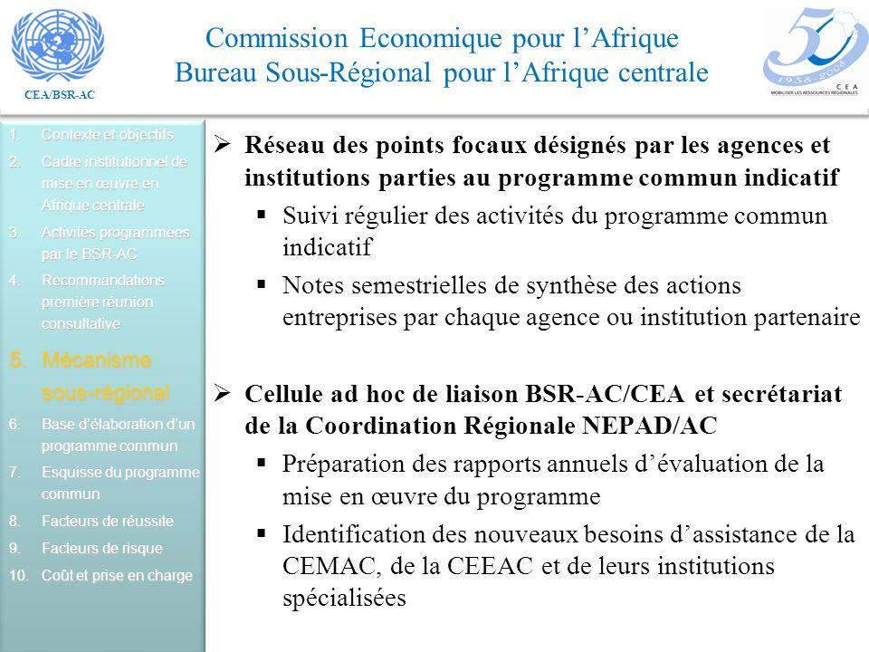 Suivi régulier des activités du programme commun indicatif