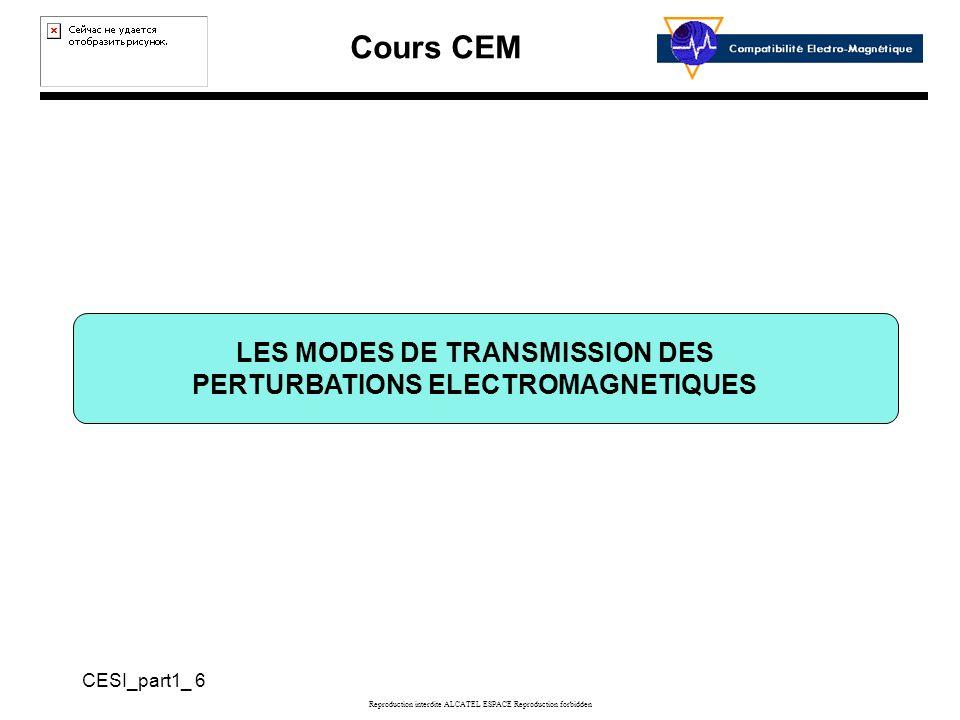 LES MODES DE TRANSMISSION DES PERTURBATIONS ELECTROMAGNETIQUES