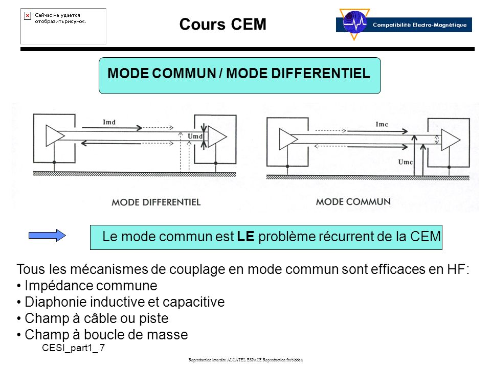 MODE COMMUN / MODE DIFFERENTIEL