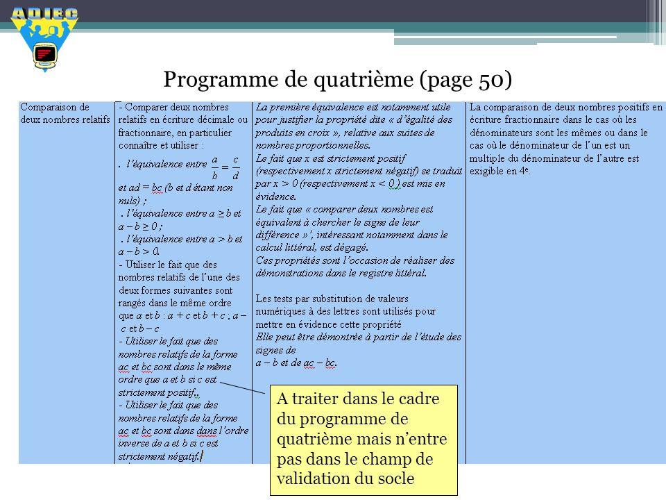 Programme de quatrième (page 50)