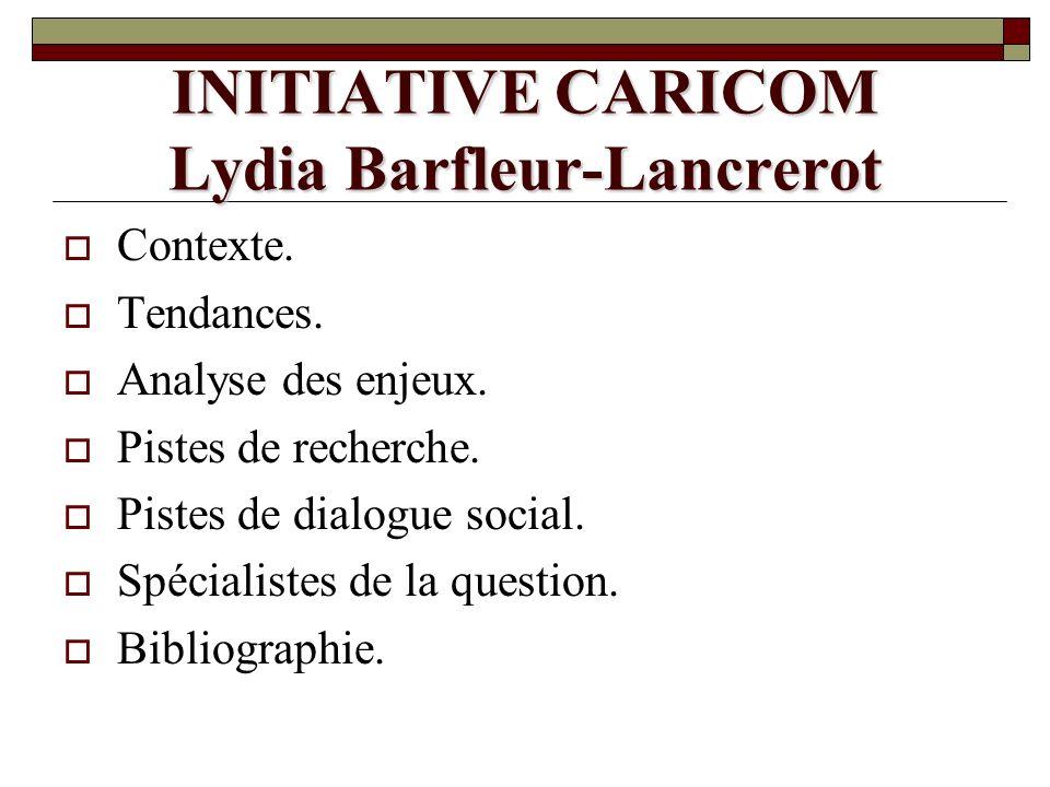 INITIATIVE CARICOM Lydia Barfleur-Lancrerot