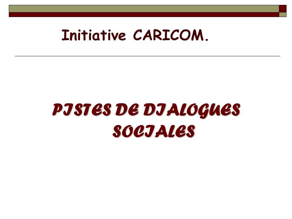PISTES DE DIALOGUES SOCIALES