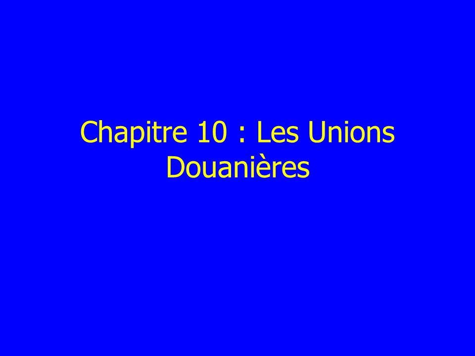 Chapitre 10 : Les Unions Douanières
