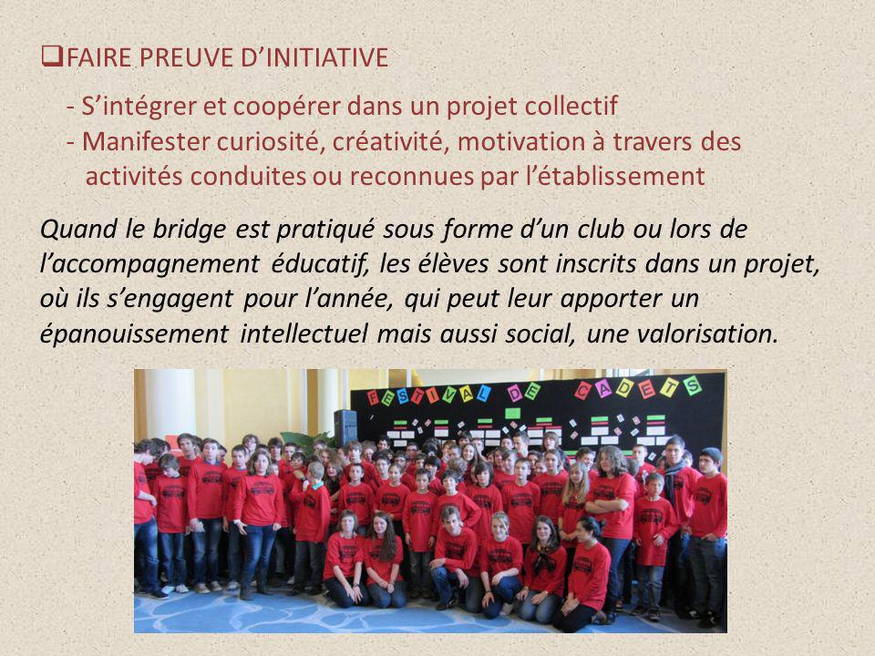 FAIRE PREUVE D'INITIATIVE