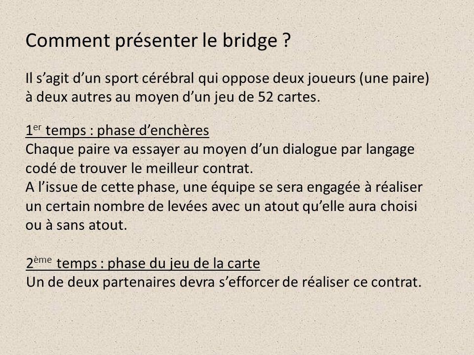 Comment présenter le bridge